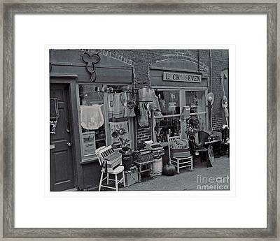 Framed Print featuring the photograph Lucky Seven by Juls Adams