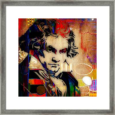 Ludwig Van Beethoven Collection Framed Print by Marvin Blaine