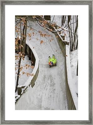 Luge Track Framed Print by Jim West