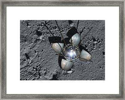 Luna 9 Landing Capsule Framed Print by Detlev Van Ravenswaay