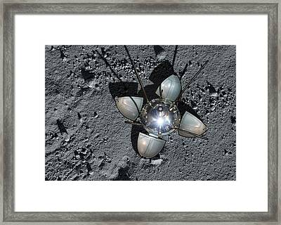 Luna 9 Landing Capsule Framed Print
