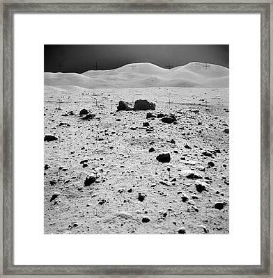 Lunar Surface Framed Print