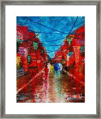 Lungkot Sa Likod Ng Pahiyas Framed Print