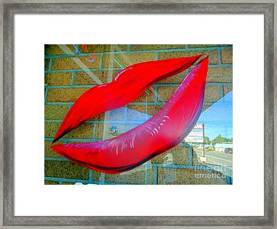 Luscious Lips Framed Print