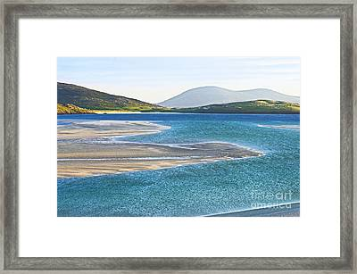 Framed Print featuring the photograph Luskentyre Bay by Jacqi Elmslie