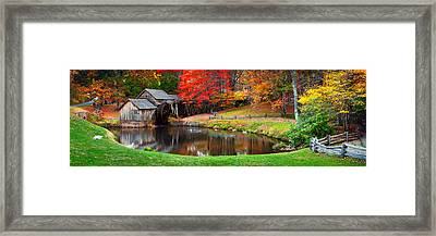Mabry Mill Pano Framed Print