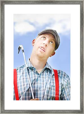 Mad About Golf Framed Print