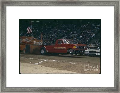 Madison Square Garden Monster Truck Show Thoroughbred Framed Print by Antonio Martinho