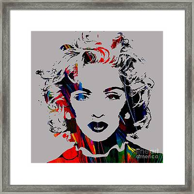 Madonna Collection Framed Print by Marvin Blaine