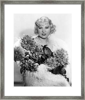 Mae West, Ca. 1934 Framed Print