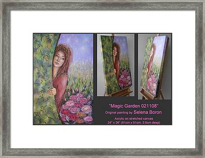 Framed Print featuring the painting Magic Garden 021108 by Selena Boron