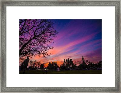 Magical Sky Framed Print by Mike Lee