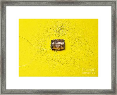 Magnetic Field Of A Solenoid Framed Print by Andrew Lambert Photography