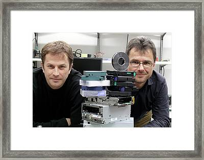 Magnetic Tape Storage Framed Print by Ibm Research