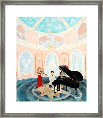 Framed Print featuring the painting Magnificent  Evening. Inspirations Collection. by Oksana Semenchenko