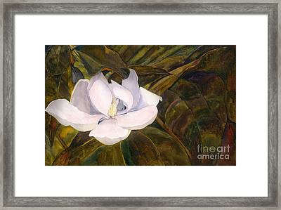 Framed Print featuring the painting Magnolia Blossom by Sandy Linden