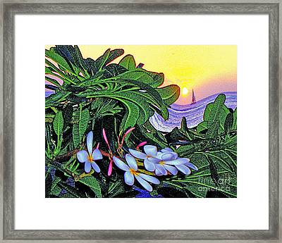 2 Mai Tais Waikiki Hawaii Framed Print by Jerome Stumphauzer