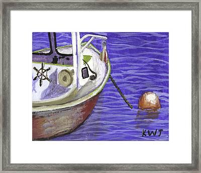 Maine Lobster Boat Framed Print