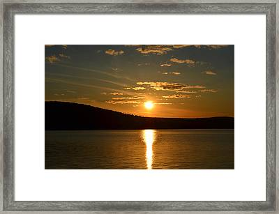Framed Print featuring the photograph Maine Sunset by James Petersen