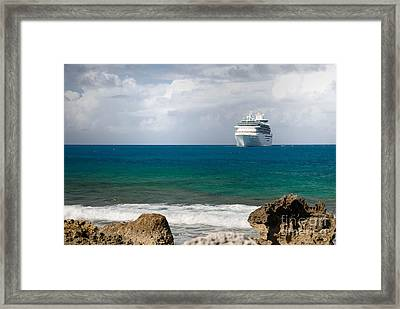 Majesty Of The Seas At Coco Cay Framed Print