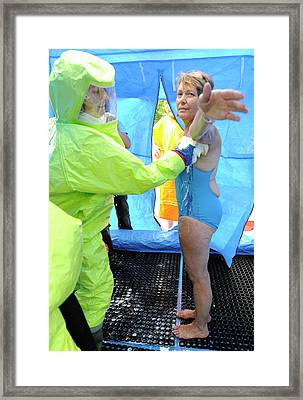 Major Emergency Decontamination Training Framed Print