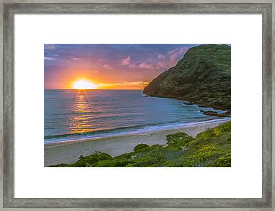 Makapuu Sunrise 1 Framed Print