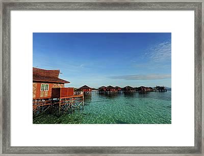 Malaysia, Borneo, Semporna, Mabul Framed Print by Anthony Asael