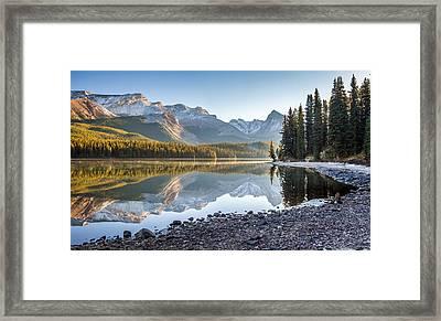 Maligne Lake Jasper National Park Alberta Canada Framed Print by Pierre Leclerc Photography