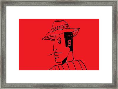 Framed Print featuring the drawing Man From Buenos Aires by Don Koester