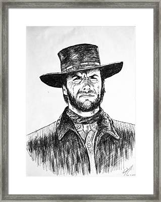 Clint Eastwood Framed Print by Salman Ravish