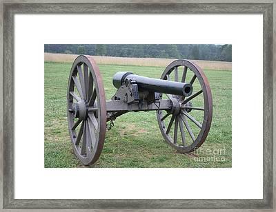 Manassas Battlefield Cannon  Framed Print
