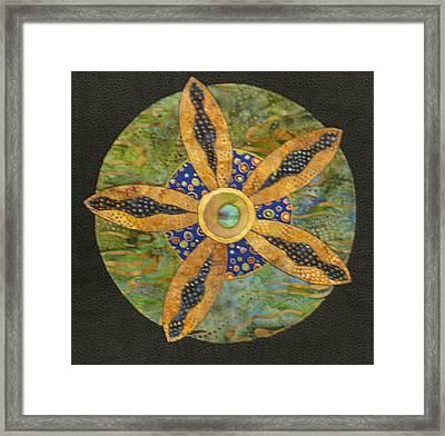 Mandala No 6 Wheel Of Fortune Framed Print by Lynda K Boardman