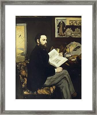Manet, �douard 1832-1883. Portrait Framed Print