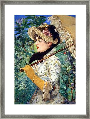 Framed Print featuring the photograph Manet's Spring by Cora Wandel
