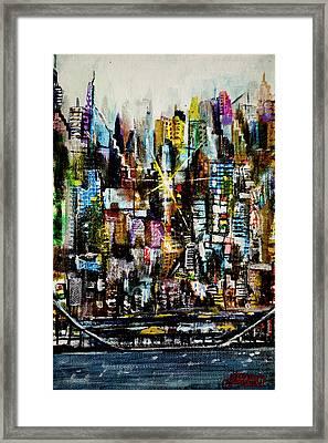 Manhattan Morning Framed Print