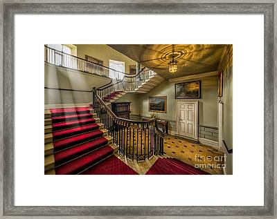 Mansion Stairway Framed Print by Adrian Evans