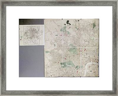 Map Of London Framed Print by British Library