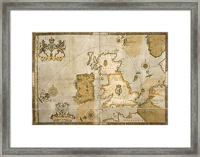 Map Of The British Isles Framed Print by British Library