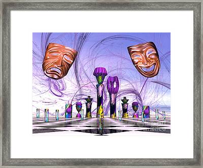 Mardi Gras Chess Framed Print by Jacqueline Lloyd