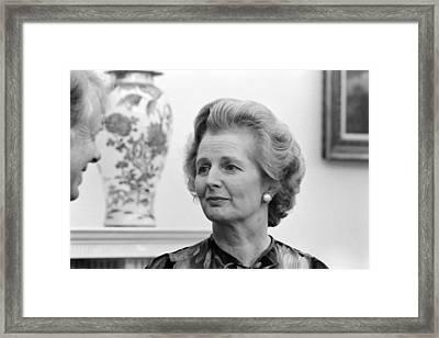Margaret Thatcher (1925-2013) Framed Print