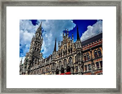 Framed Print featuring the photograph Marienplatz In Munich by Joe  Ng