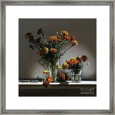 Marigolds  Framed Print by Larry Preston
