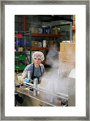Marijuana Products Factory Framed Print