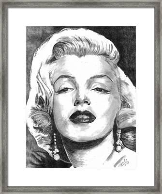 Marilyn Framed Print by Ariel Davila
