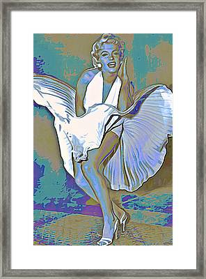 Marilyn Monroe  Framed Print by  Fli Art