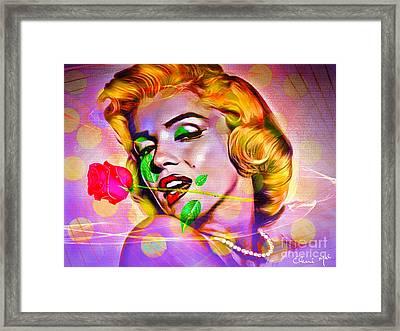 Marilyn Monroe Framed Print by Eleni Mac Synodinos