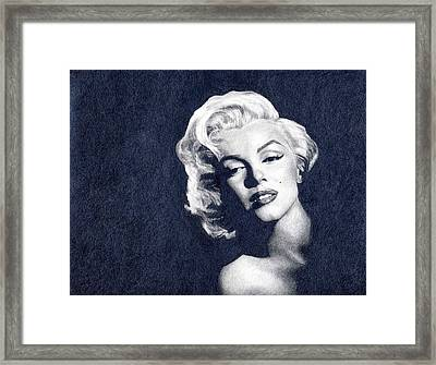Marilyn Monroe Framed Print by Erin Mathis