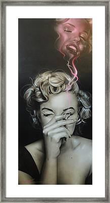Marilyn Monroe - ' Marilyn's Crimson Haze ' Framed Print by Christian Chapman Art