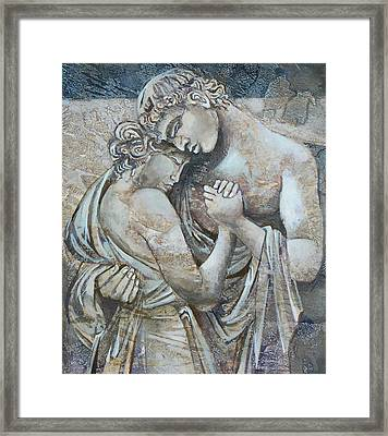 Marrige Framed Print by Mary jane Miller