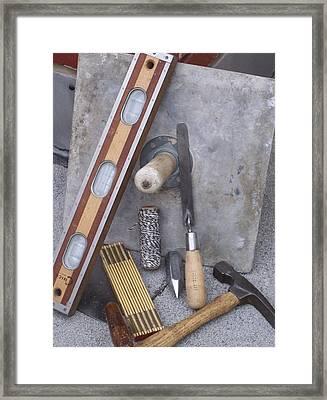 Masonery Tools Framed Print